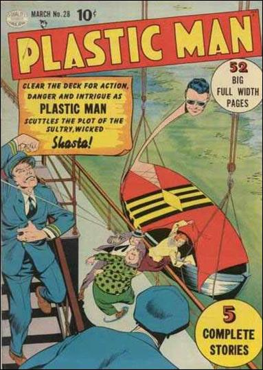 Plastic Man (1943) 28-A by Comic Magazines