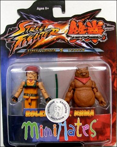 Street Fighter X Tekken Minimates (Exclusives) Rolento vs Kuma by Diamond Select