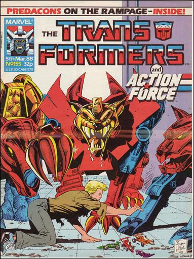 Transformers (UK) 155-A by Marvel UK