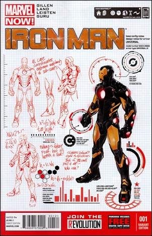 Iron Man (2013) 1-B by Marvel