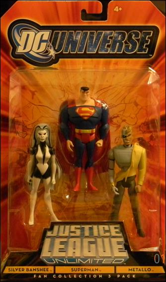 DC Universe: Justice League Unlimited - Fan Collection (3-Packs) Silver Banshee/Superman/Metallo by Mattel