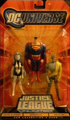 DC Universe: Justice League Unlimited - Fan Collection (3-Packs) Silver Banshee/Superman/Metallo
