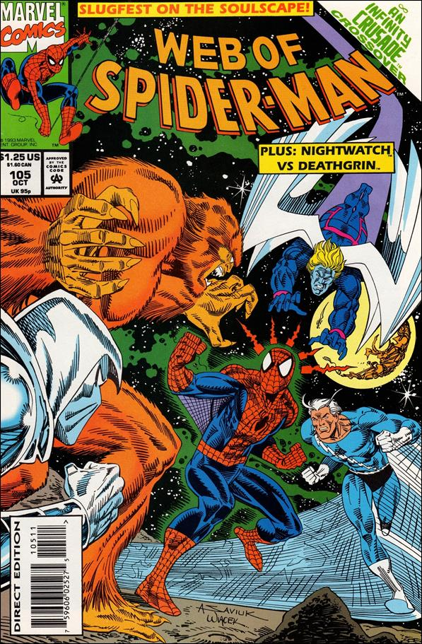 Web of Spider-Man (1985) 105-A by Marvel