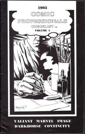 Comic Professionals Checklist 1-A