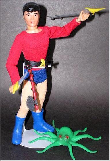 """Captain Action (9"""" Figure Uniform and Equipment Packs) Aqualad (Uniform Mask and Equipment Pack) by Ideal"""