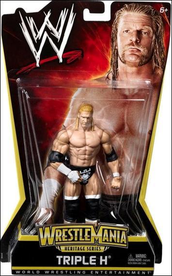 Triple Aaa Number >> WWE: Wrestlemania Heritage Triple H, Jan 2011 Action Figure by Mattel