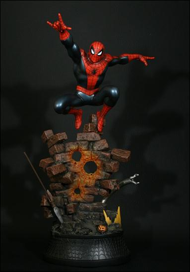 marvel statues spider man action 1 1900 jun 2012 statue bust by bowen designs. Black Bedroom Furniture Sets. Home Design Ideas