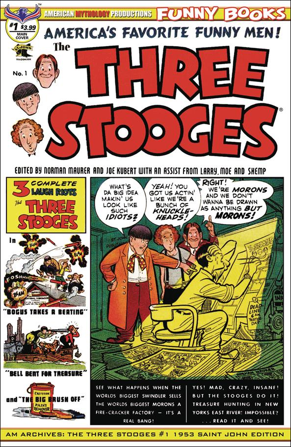 AM Archives: The Three Stooges #1 1953 Saint John Edition 1-A by American Mythology