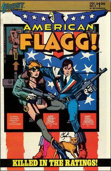 American Flagg! (1983) 3-A by First