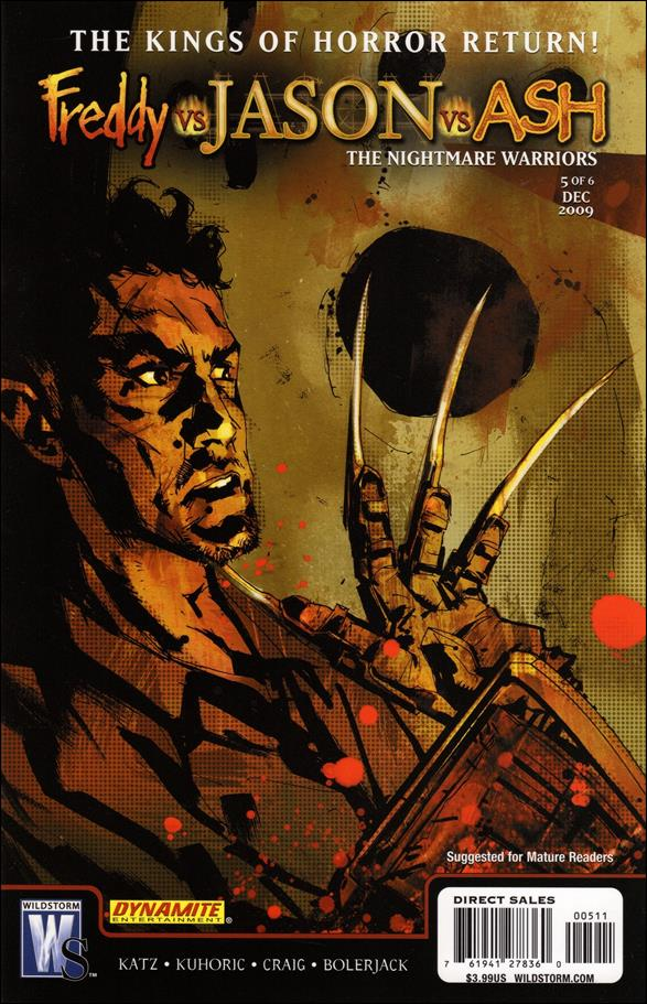 Freddy vs Jason vs Ash (of Army of Darkness): The Nightmare Warriors 5-A by WildStorm