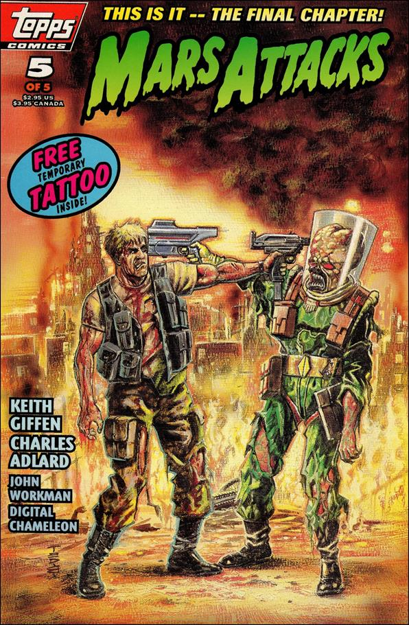 Mars Attacks (1994) 5-A by Topps