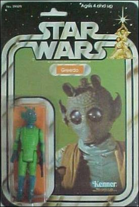 "Star Wars 3 3/4"" Basic Action Figures (Vintage) Greedo (SW 20/21 Back) by Kenner"