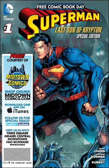 Superman: The Last Son of Krypton FCBD Special Edition 1-K by DC