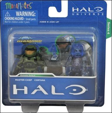Halo Minimates Master Chief and Cortana by Diamond Select