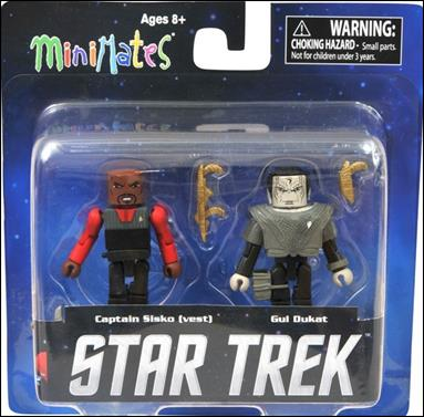 Star Trek Legacy Minimates (Toys R Us) Captain Sisko (Vest) and Gul Dukat by Diamond Select