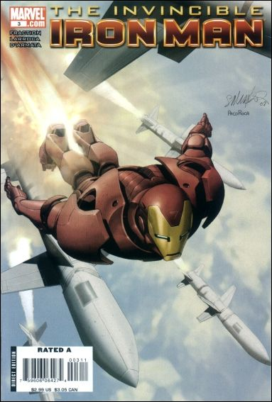 Invincible Iron Man (2008) 3-A by Marvel
