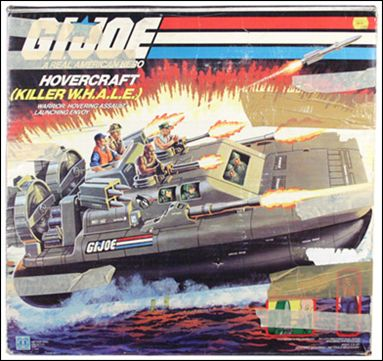 "G.I. Joe: A Real American Hero 3 3/4"" Basic Vehicles and Playsets Killer W.H.A.L.E. (Hovercraft) by Hasbro"