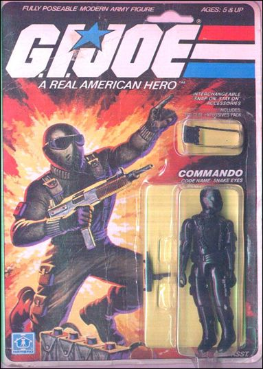 "G.I. Joe: A Real American Hero 3 3/4"" Basic Action Figures Snake-Eyes (Commando) by Hasbro"
