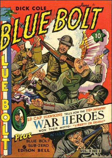 Blue Bolt (1942) 1-A by Novelty Press