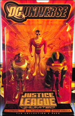 DC Universe: Justice League Unlimited - Fan Collection (3-Packs) Cyborg/Plastic Man/ Mister Miracle