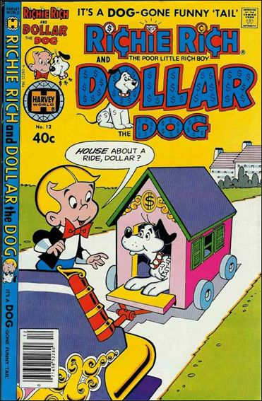 Richie Rich & Dollar, the Dog 12-A by Harvey