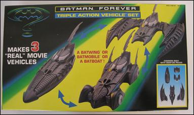 Batman Forever (Vehicles) Triple Action Vehicle Set by Kenner