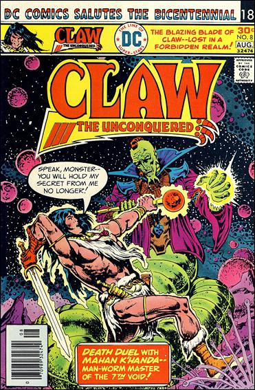 Claw the Unconquered (1975) 8-A by DC