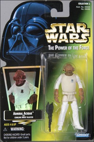 Star Wars: The Power of the Force 2 3 3/4&quot; Basic Action Figures Admiral Ackbar (Holofoil Sticker) by Kenner