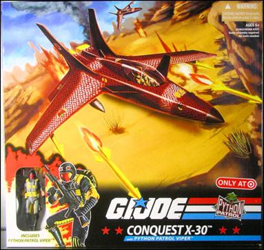 G I  Joe 25th Anniversary Vehicles Python Patrol Conquest X-30 (w