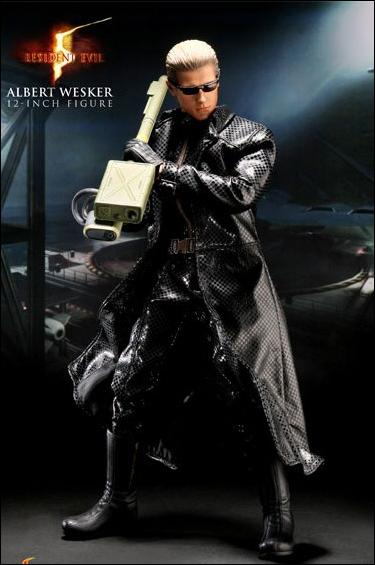 Resident Evil 5 Albert Wesker Trenchcoat Jan 2010 Action Figure By Sideshow Collectibles
