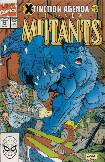New Mutants (1983) 96-A by Marvel