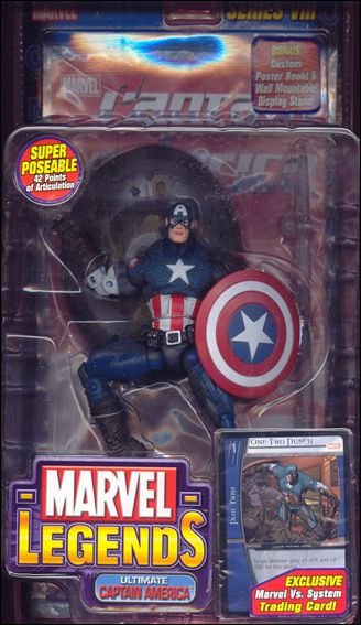 Marvel Legends (Series 8) Ultimate Captain America (Grey Pants - No Wings) by Toy Biz