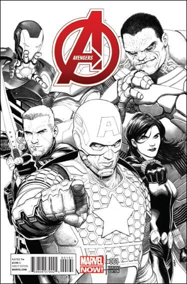 Avengers (2013) 1-D by Marvel
