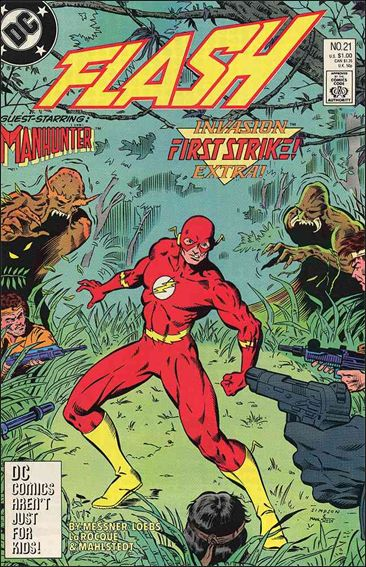 Flash (1987) 21-A by DC