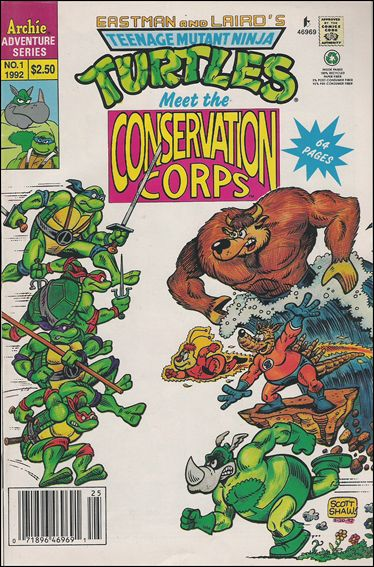 Teenage Mutant Ninja Turtles Meet the Conservation Corps Special 1-A by Archie