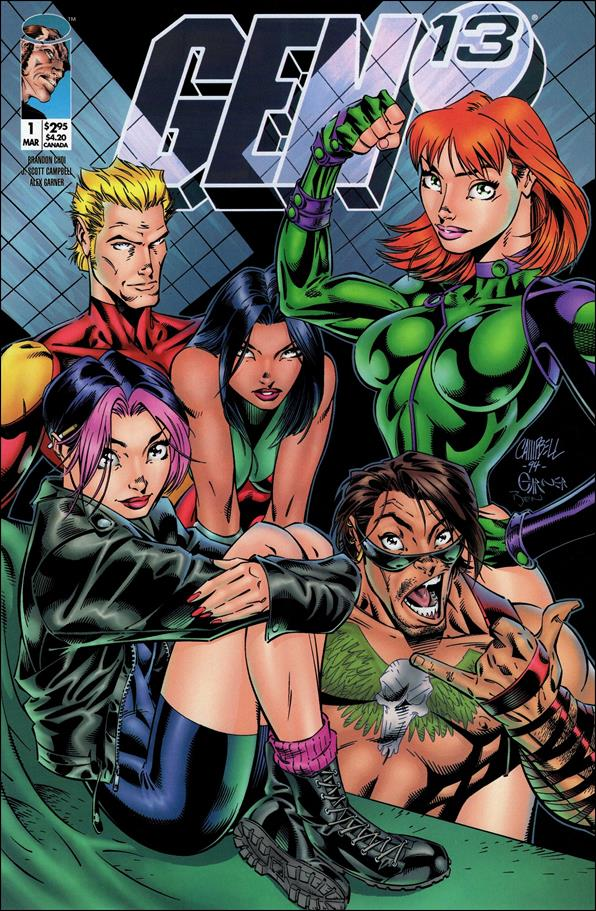 Gen13 (1995) 1-B by WildStorm