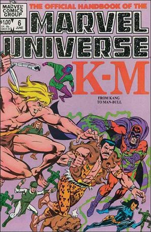 Official Handbook of the Marvel Universe (1983) 6-A