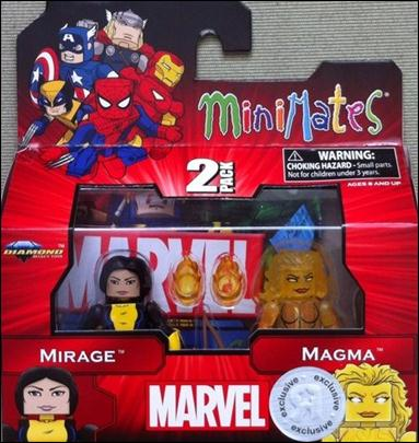 Marvel Minimates (Exclusives) Mirage and Magma by Diamond Select