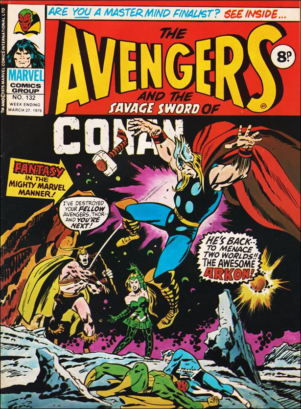 Avengers (UK) 132-A by Marvel UK