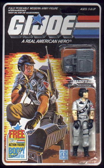 "G.I. Joe: A Real American Hero 3 3/4"" Basic Action Figures Mainframe (Computer Specialist) by Hasbro"
