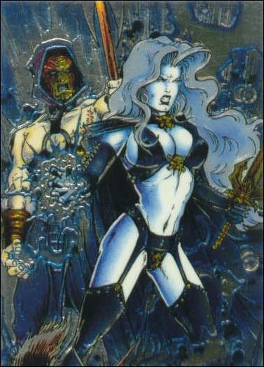 Lady Death All Chromium (Base Set) 20-A by Krome Productions