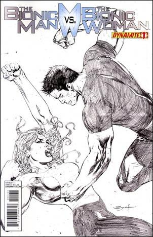 Bionic Man vs the Bionic Woman 1-F by Dynamite Entertainment