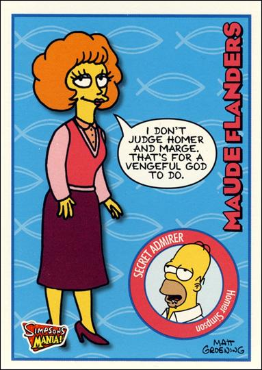 Simpsons Mania 14 A Jan 2001 Trading Card By Inkworks