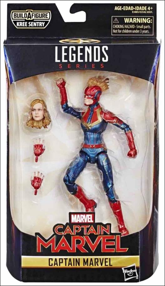 Marvel Legends Series: Captain Marvel (Kree Sentry Series) Captain Marvel by Hasbro