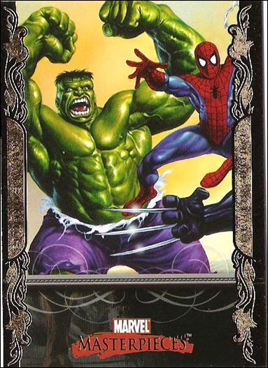 2007 Marvel Masterpieces (Parallel Gold Border Base Set) 1-A by Upper Deck