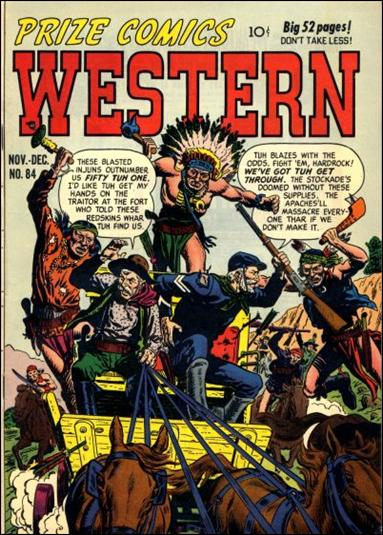 Prize Comics Western 84-A by Feature