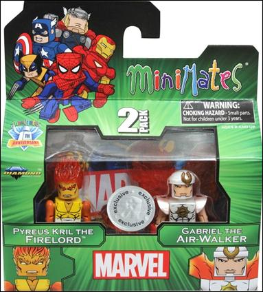 Marvel Minimates (Exclusives) Pyreus Kril the Firelord & Gabriel the Air-Walker by Diamond Select