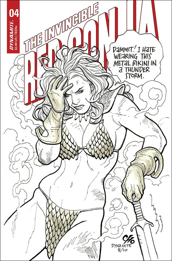 Invincible Red Sonja 4-D by Dynamite Entertainment