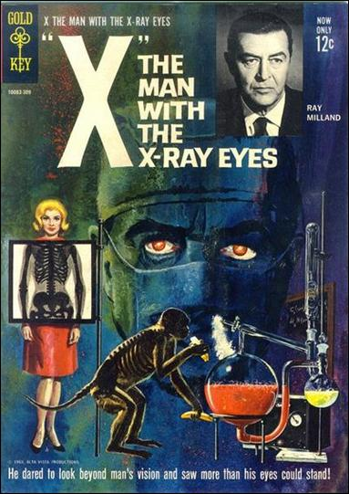 X, The Man with the X-Ray Eyes nn-A by Gold Key