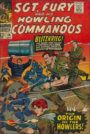 Sgt. Fury and His Howling Commandos 34-A by Marvel